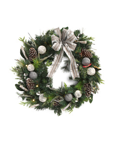 36in Lighted Jewel Wreath