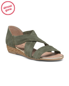 Made In Spain Crossband Closed Back Suede Sandals