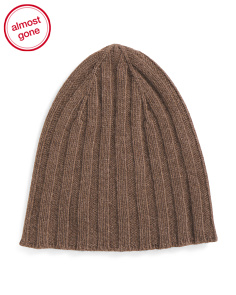 Made In Italy Ribbed Cashmere Beanie