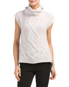 Sleeveless Optic Texture Sweater