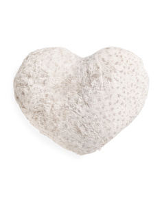 Kids Faux Fur Heart Pillow