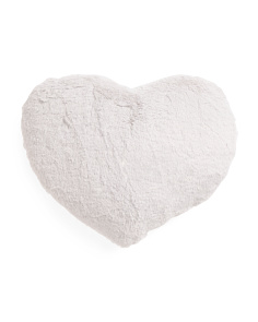 Kids 21x18 Fluffy Heart Pillow