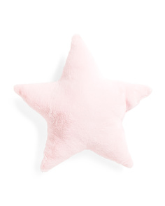 Kids 18x18 Faux Fur Star Pillow