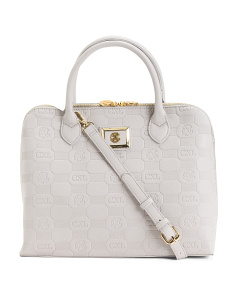 Celeste Embossed Dome Satchel