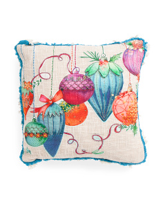 Made In India 20x20  Beaded Pillow