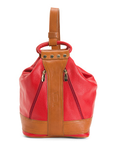 Made In Italy Leather Sling Backpack