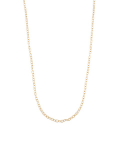 Made In Italy 14k Gold Bar Station Necklace