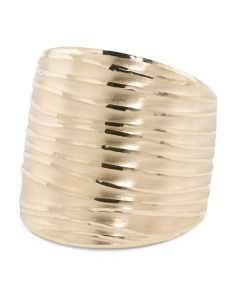 Made In Italy 14k Gold Lined Band