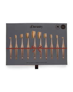 10pc Hammered Make Up Brush Set
