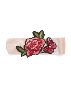 Rose & Butterfly Velvet Headband