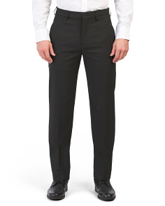 Modern Fit Flat Front Trousers