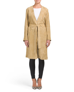 Suede Robe Coat