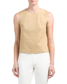 Cropped Suede Shell Top