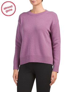 Boxy Crew Neck Cashmere Sweater