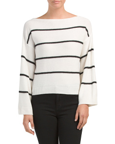 Wide Boat Neck Cashmere Sweater