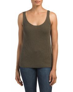 Lattice Stitch Sweater Tank