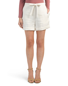 Paper Bag Easy Linen Shorts