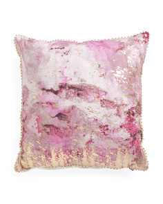 Made In India 20x20 Foil Print Pillow
