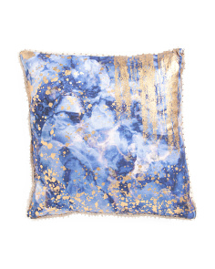 Made In India 20x20 Marbled Pillow