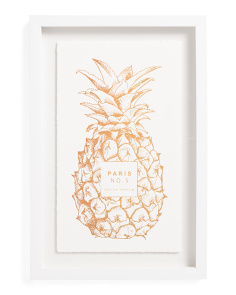 12x18 Gold Foil Pineapple Wall Art