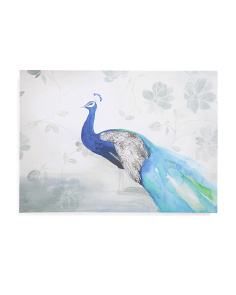 30x20 Peacock Fable Canvas Wall Art
