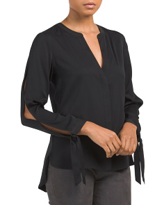 Socha Long Sleeve Silk Blend Top