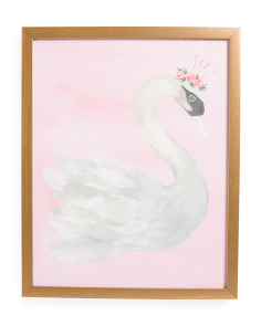 Kids 16x20 Swan Canvas Wall Art