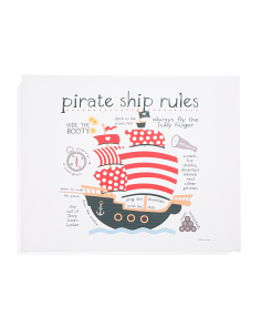 Kids 16x20 Pirate Rules Wall Art