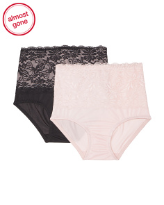 2pk Lace Shaping Briefs