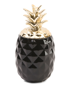 Two Tone Pineapple Canister