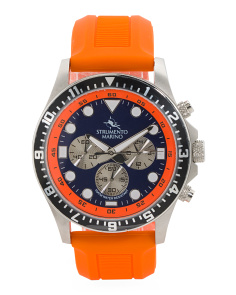 Men's Designed In Italy Typhoon Silicone Strap Watch