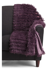 Effie Textured Faux Fur Throw