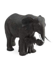 Mother And Baby Elephant Decor