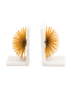 Made In India Set Of 2 Sunburst Bookends