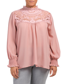 Plus Juniors Victorian Lace Blouse