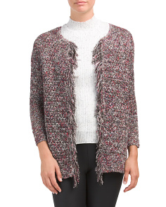 Nenet Tweed Fringe Jacket
