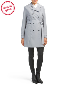 Textured Double Breasted Trench Coat