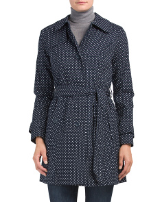 Polka Dot Trench Coat