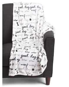 Good Dog Plush Throw