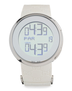 Women's Swiss Made Digital Rubber Strap Watch
