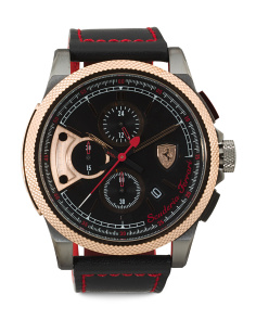Men's Formula Italia S Leather Strap Chronograph Watch