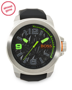 Men's New York Silicone Strap Watch