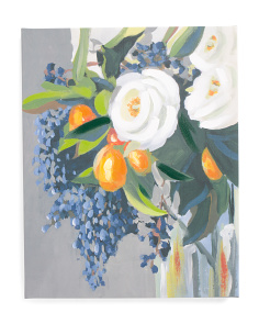 16x20 Blueberry Bouquet Canvas Wall Art