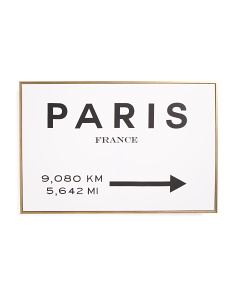 24x16 Paris To LA Framed Canvas Wall Art