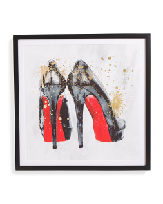 24x24 You & Red Soles Framed Wall Art