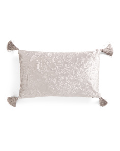12x20 Embossed Velvet Pillow