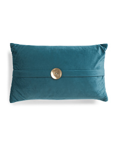 12x20 Velvet Button Pillow