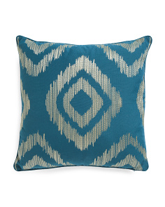 20x20 Metallic Embroidered Pillow