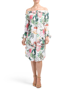 Made In Italy Tropical Print Dress