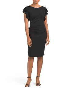 Made In Italy Rouched Jersey Dress